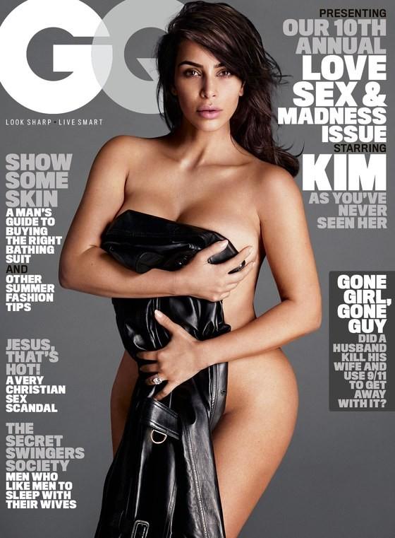 Kim Kardashian é a capa de nova edição da GQ americana (Foto: Reprodução)