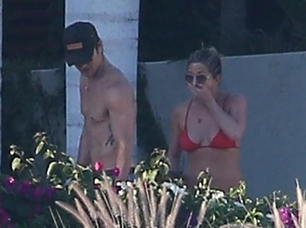 Jennifer Aniston e Justin Theroux (Foto: BackGrid)