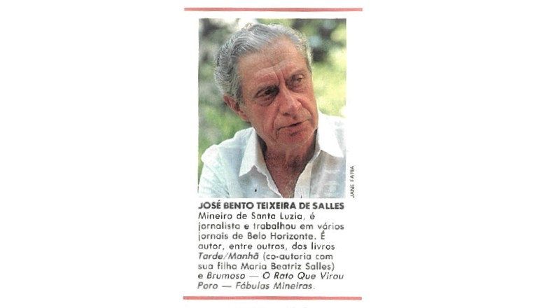 Em 1990, o jornalista e escritor mineiro José Bento Teixeira de Salles contribuiu com crônicas para a revista Globo Rural (Foto: Jane Faria)