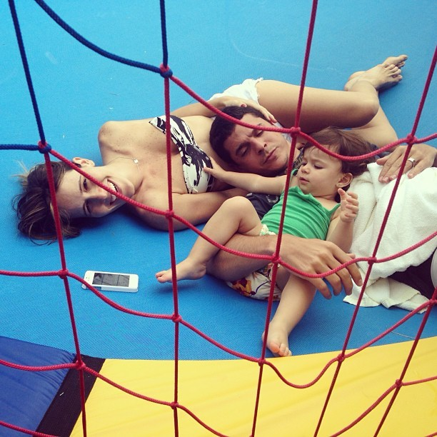 Fernanda Pontes com Maria Luiza e Diogo Boni (Foto: Reprodução/Instagram)