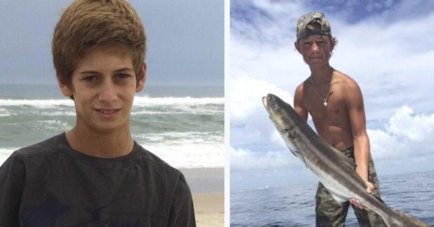 Fotos mostram os jovens Austin Stephanos e Perry Cohen, de 14 anos, que sumiram há uma semana no mar da Flórida (Foto: U.S. Coast Guard/Reuters)