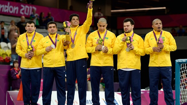 Goalball Brasil Paralimp&#237;adas p&#243;dio (Foto: Ag&#234;ncia Getty)