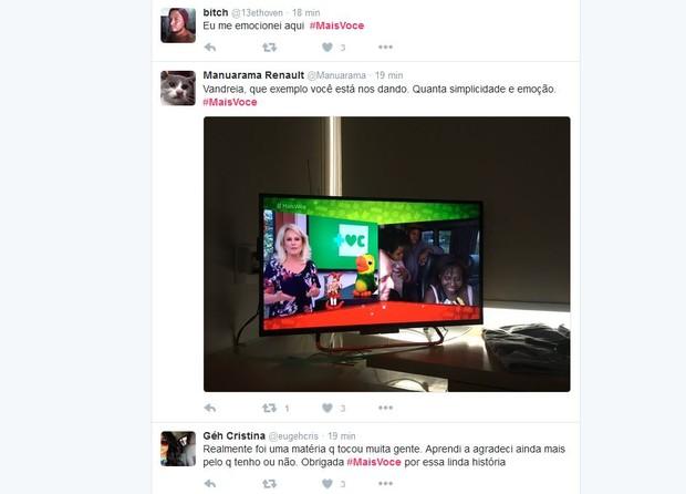 No Twitter, internautas comentam matéria do programa Mais Você (Foto: Reprodução/Twitter)