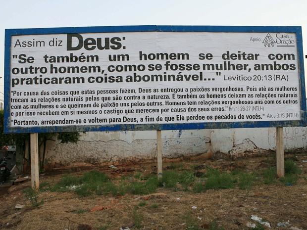 Outdoor causa polêmica em cidade do interior de SP (Foto: Silva Júnior/Folhapress)