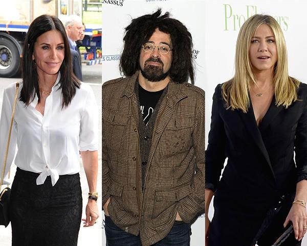 Courteney Cox, Adam Duritz e Jennifer Aniston (Foto: Getty Images)