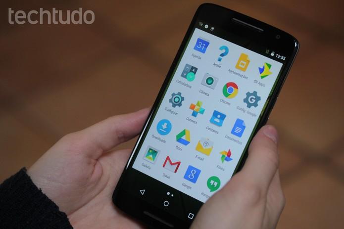Tela do Moto X Play com aplicativos (Foto: Lucas Mendes/TechTudo)