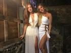 Marina Ruy Barbosa e Giovanna Ewbank capricham em fenda sensual