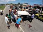 Motorista de carro que atravessou RJ-106, em Maricá, morre nesta quinta