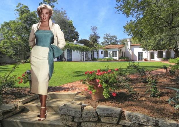 A bela mansão de Marilyn Monroe em Brentwood, região dos ricos e famosos em Los Angeles (Foto: Reprodução/Lisa Optican/Mercer Vine)