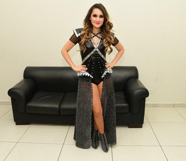Dulce Maria faz show em SP (Foto: Leo Franco/AgNews)