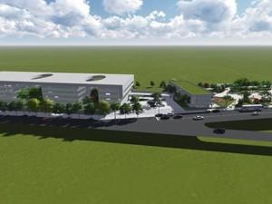 Projeto da nova unidade do Hospital do Câncer de Uberlândia (Foto: Reprodução/ TV Integração)