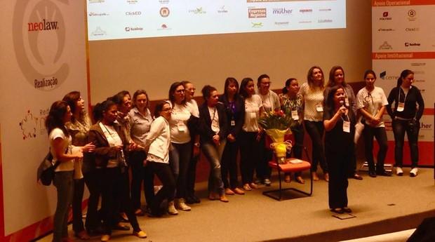 Ana Fontes, coordenadora da Virada Empreendedora, no encerramento do evento (Foto: Divulgação)