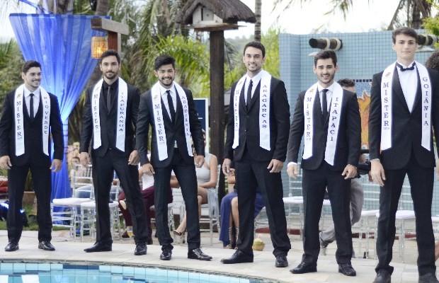 Parte dos candidatos ao Mister Goiás 2015 (Foto: Divulgação/ Mister Goiás 2015)