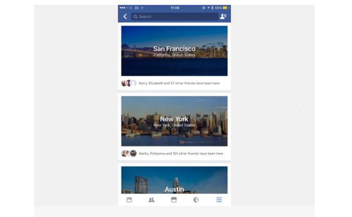 Facebook ganha guia de viagens embutido (Foto: Reprodução/The Next Web)