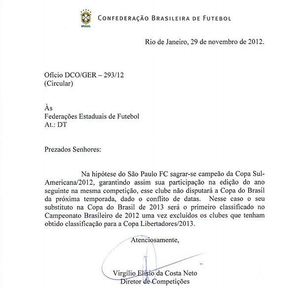 Nota CBF (Foto: Divulgação)
