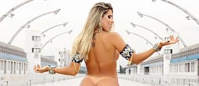 Ana Paula Minerato posa nua no Anhembi: 'Não me falta estrela' (Celso Tavares / EGO)