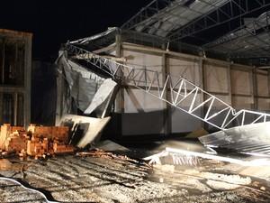 São Joaquim contabilizou estragos causados por vento forte (Foto: Rafael Mossi/Divulgação)