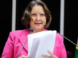 Maria do Carmo Alves (DEM-SE), durante pronunciamento no Senado (Foto: Pedro França/Agência Senado)