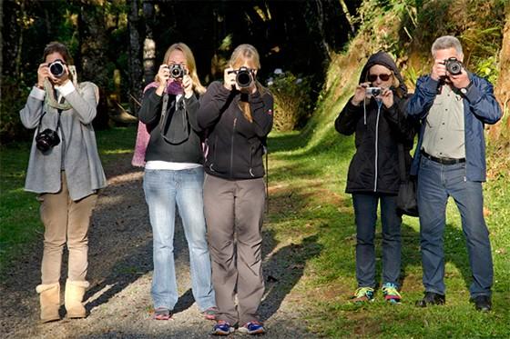 """Participantes do workshop """"Fotografia de Viagem"""" em Campos do Jordão  (Foto: © Haroldo Castro/Época)"""