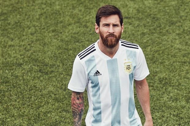Uniforme da Argentina para a Copa de 2018 (Foto: reprodução )