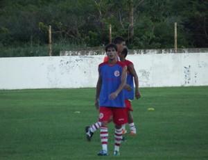Kattê, atacante do América-RN (Foto: Tiago Menezes)
