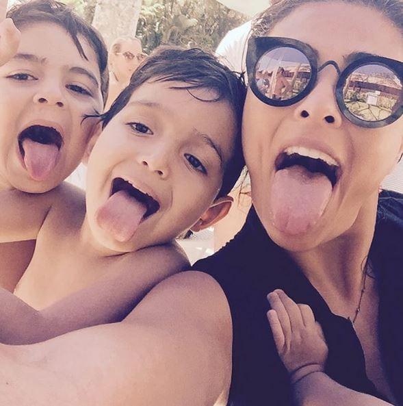 Juliana Paes e filhos (Foto: Reprodução/Instagram)