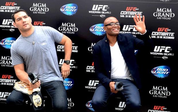 Anderson Silva e Chris Weidman tour UFC  (Foto: André Durão / Globoesporte.com)