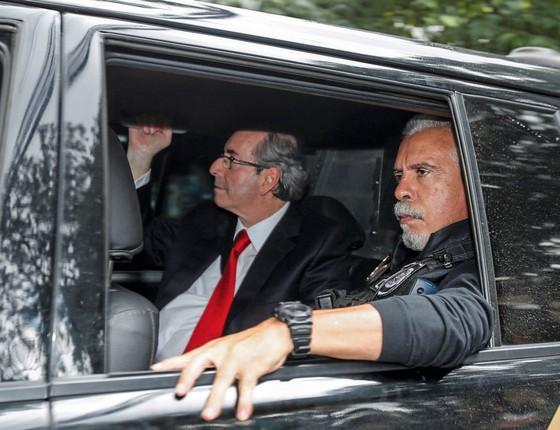 O ex-presidente da Câmara e deputado cassado, Eduardo Cunha (PMDB-RJ), preso na operação Lava Jato (Foto:   Paulo Lisboa/Brazil Photo Press / Agência O Globo)