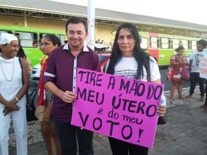 Naná Jucá, integrante do Instituto Maria da Penha (Foto: Ellyo Teixeira/ G1)
