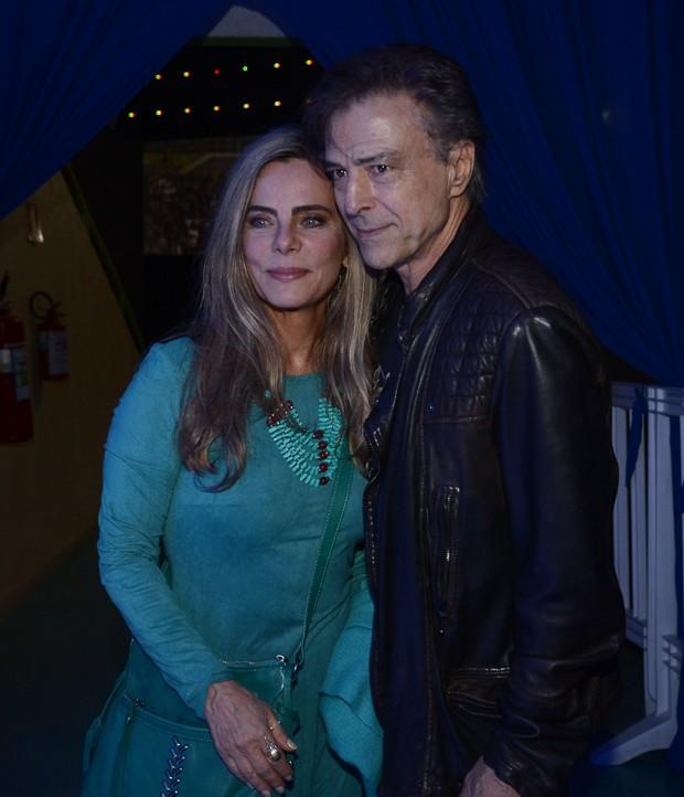 Bruna Lombardi e o marido, Carlos Alberto Riccelli (Foto: Francisco Cepeda/AgNews)