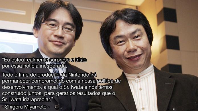 Shigeru Miyamoto, criador de Mario e The Legend of Zelda, demonstra tristeza pela perda do amigo (Foto: Reprodução/Rafael Monteiro)