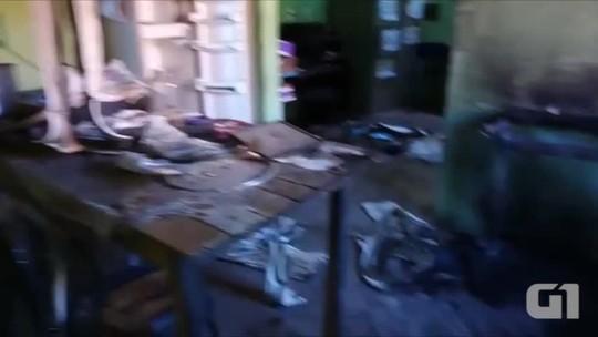 Polícia investiga roubo, incêndio e pichações em escola pública no Piauí