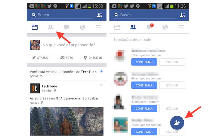 Acessando as opções da tela de gerenciamento de sugestões de amizade do Facebook (Foto: Reprodução/Marvin Costa)