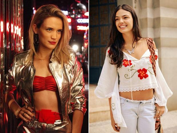 Cabelos escovados e naturais das personagens Vitória e Sandra são tendências (Foto: Raphael Dias/TV Globo)