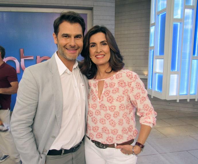 Doutor Fernando Gomes Pinto e Fátima (Foto: Viviane Figueiredo Neto/Gshow)