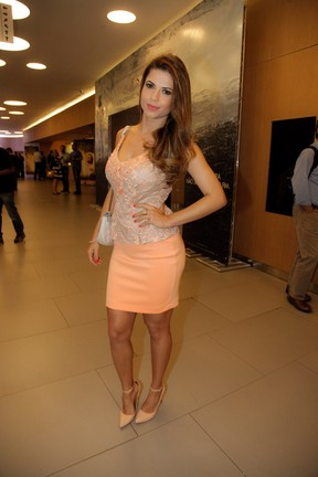 Ex-BBB Cacau em pré-estreia de filme em São Paulo (Foto: Marcos Ribas/ Foto Rio News)