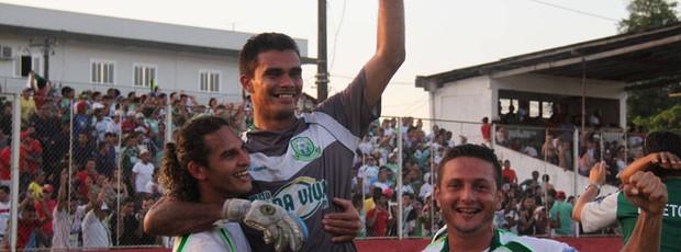 Jogadores do Paragominas comemoram a vaga na final da Segundinha (Foto: Antonio Cícero / Colaborativo)