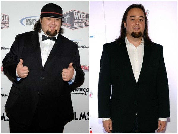 "Austin ""Chumlee"" Russell em 2010 e 2014 (Foto: Getty Images)"