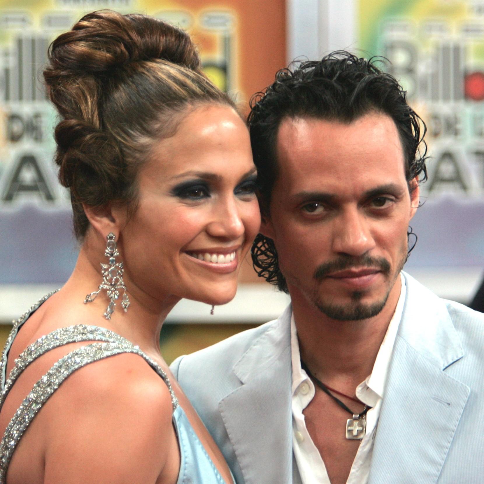 O divórcio de Jennifer Lopez do cantor e produtor Marc Anthony saiu em 2014, dez anos após se casarem. Eles decidiram subir ao altar depois de menos de seis meses de namoro, e se separaram depois de sete anos. (Foto: Getty Images)