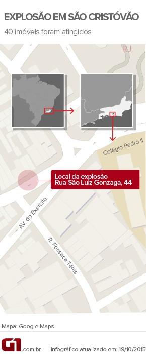 Prefeitura libera tráfego em ruas que foram fechadas após explosão no Rio