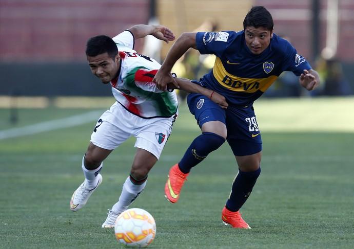 Diaz e Palacios, Boca x Palestino (Foto: EFE)