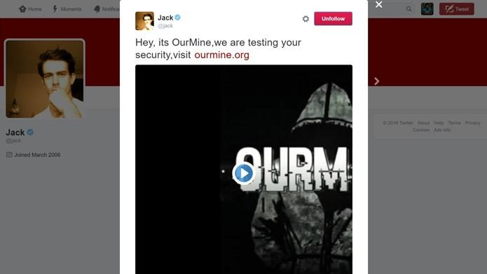 Ataque a CEO do Twitter foi possível através da integração com o Vine (Foto: Reprodução/Twitter)