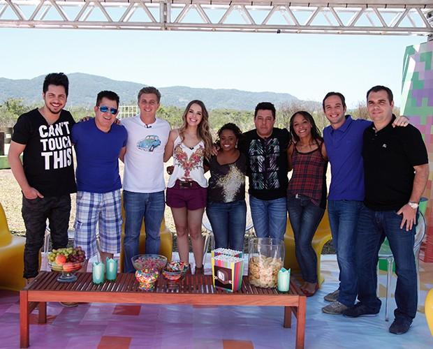 Paritcipantes do Ruim de Roda especial famosos (Foto: Raphael Dias/TV Globo)
