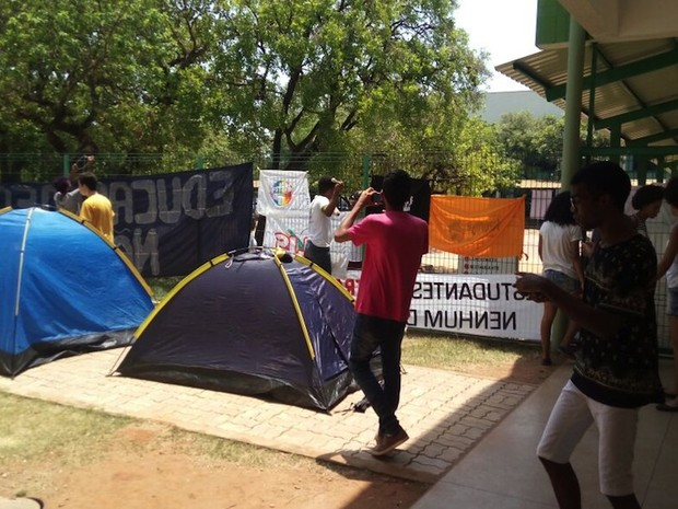 Alunos contaram com apoio de movimentos sociais durante período de ocupação (Foto: Jordana Caroline)