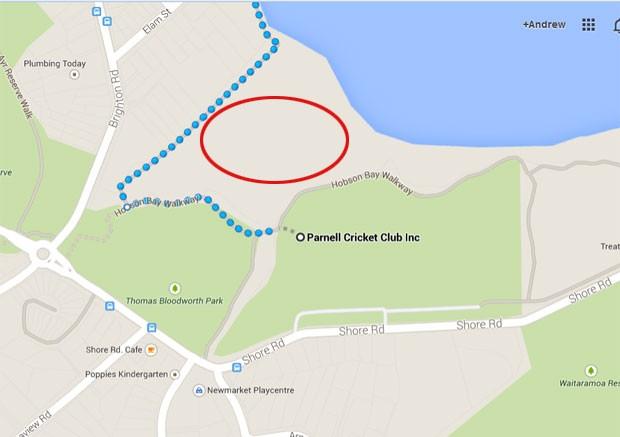 Local onde o hacker criou o desenho (Foto: Reprodução/Google Maps)
