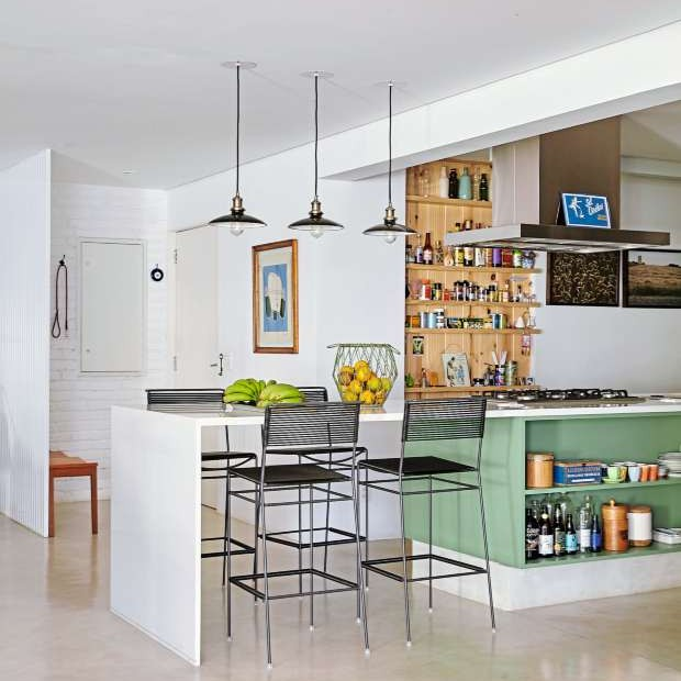 Apartamento térreo projetado pelo escritório RSRG Arquitetos (Foto: Victor Affaro)