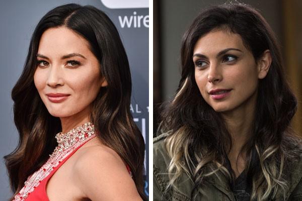 A atriz Olivia-Munn e a Copcaty de Morena Baccarin (Foto: Getty Images/Reprodução)