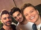 Gusttavo Lima, Luan Santana e Michel Teló exibem seus diferentes topetes