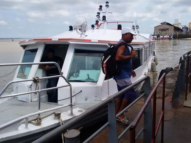 Começou a operar a lancha rápida que faz a viagem entre os municípios de Cachoeira do Arari, no Marajó, e Belém (Foto: Divulgação/Agencia Pará)