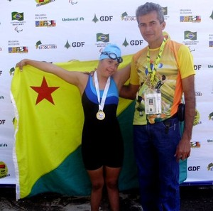 Raysa Braga e o pai, Francisco Moura (Foto: Arquivo pessoal)